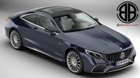Mercedes S Class Coupe AMG S65 2018 3D Model