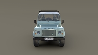 1985 Land Rover Defender 90 with interior ver 7 3D Model