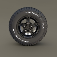 Offroad Alloy Wheel MUD 3D Model