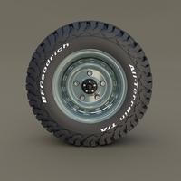 Offroad Steel Wheel AT 3D Model