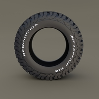 BF Goodrich AT Tire 3D Model