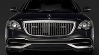 Mercedes Maybach S 650 Guard X222 2019 3D Model