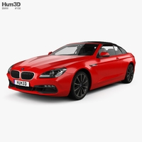 BMW 6 Series (F12) Convertible 2015 3D Model