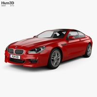 BMW 6 series (F13) Coupe M Sport Package 2015 3D Model