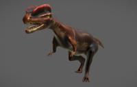 Dilophosaurus Jurassic Dinosaur 3D Model
