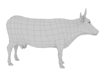 low poly cow base 3D Model