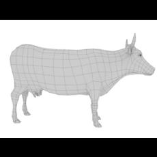low poly cow base 3D Model