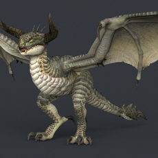 Game Ready Monster Dragon 3D Model