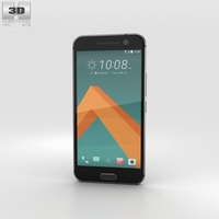 HTC 10 Carbon Gray 3D Model