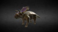 Medusaceratops Jurassic Dinosaur 3D Model