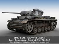 PzKpfw III - Panzer 3 - Ausf.M - 513 3D Model