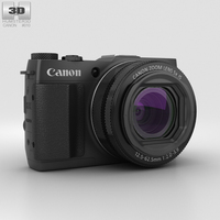 Canon PowerShot G1 X Mark II 3D Model
