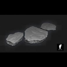 3d Rock Plates 3D Model