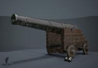 3d War Cannon 3D Model