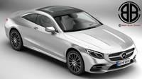 Mercedes S Class Coupe AMG Line 2018 3D Model