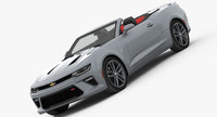 Chevrolet Camaro SS Convertible 2016 3D Model