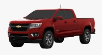 Chevrolet Colorado Crew Cab Long Box 3D Model