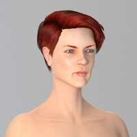 Miss Red Beauty 3D Model