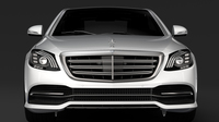 Mercedes Benz S 560 4MATIC W222 2018 3D Model