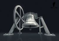 3D Alamo Mission Bell 3D Model