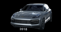 2018 Porsche Cayenne Turbo 9Y0 with interior 3D Model
