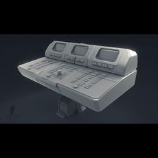 Computer Control Panel 3D Model