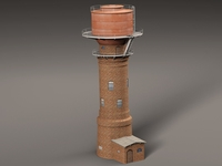Big Water Tower 3D Model