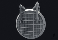 Metal Sewer Door 3D Model