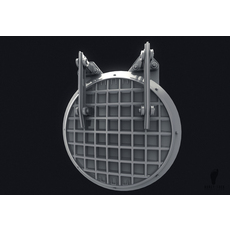 Metal Sewer Door 3D Model