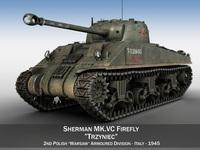 Sherman MK VC Firefly - Tryniec 3D Model