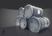 Steel Oil Barrel 3D Model