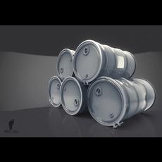 Steel Oil Barrel 3D Model