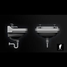 Public Restroom Sink 3D Model