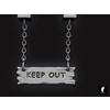 02 25 49 307 3d keep out wooden hanging sign 1 4
