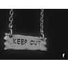 02 25 50 747 3d keep out wooden hanging sign 5 4