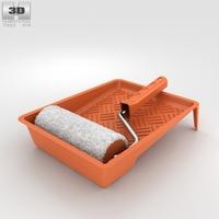 Paint Roller Kit 3D Model