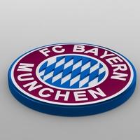 bayern munchen logo 3D Model