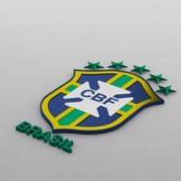 brasil logo 3D Model