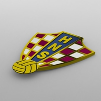 Croatia logo 3D Model