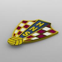 Croatia logo 3D Model