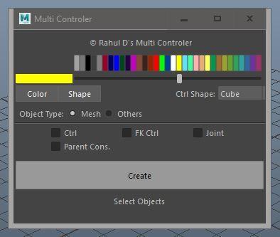 Multi Controller for Maya - Free Games Scripts / Plugins Downloads