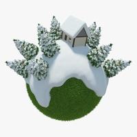Winter Planet 08 3D Model