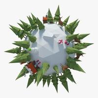 Winter Planet 03 3D Model