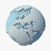 Winter Planet 01 3D Model