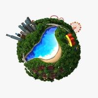 Planet World 04 3D Model