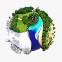 Planet World 03 3D Model