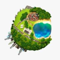 Planet World 02 3D Model