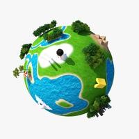 Planet World 01 3D Model