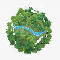 Planet River 02 3D Model