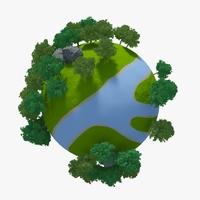 Planet River 01 3D Model